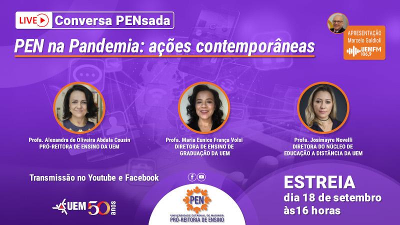 PEN na Pandemia: ações contemporâneas - 18/09 - 16h