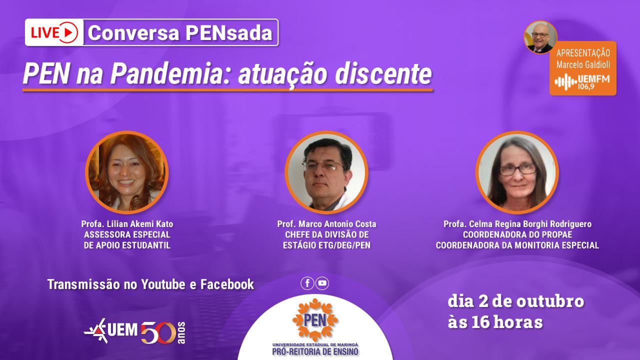 PEN na Pandemia: atuação discente - 02/10 - 16h
