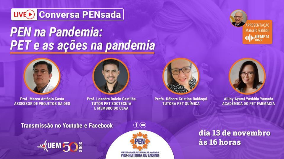 PEN na Pandemia - PET e as ações na pandemia - 13/11 - 16h