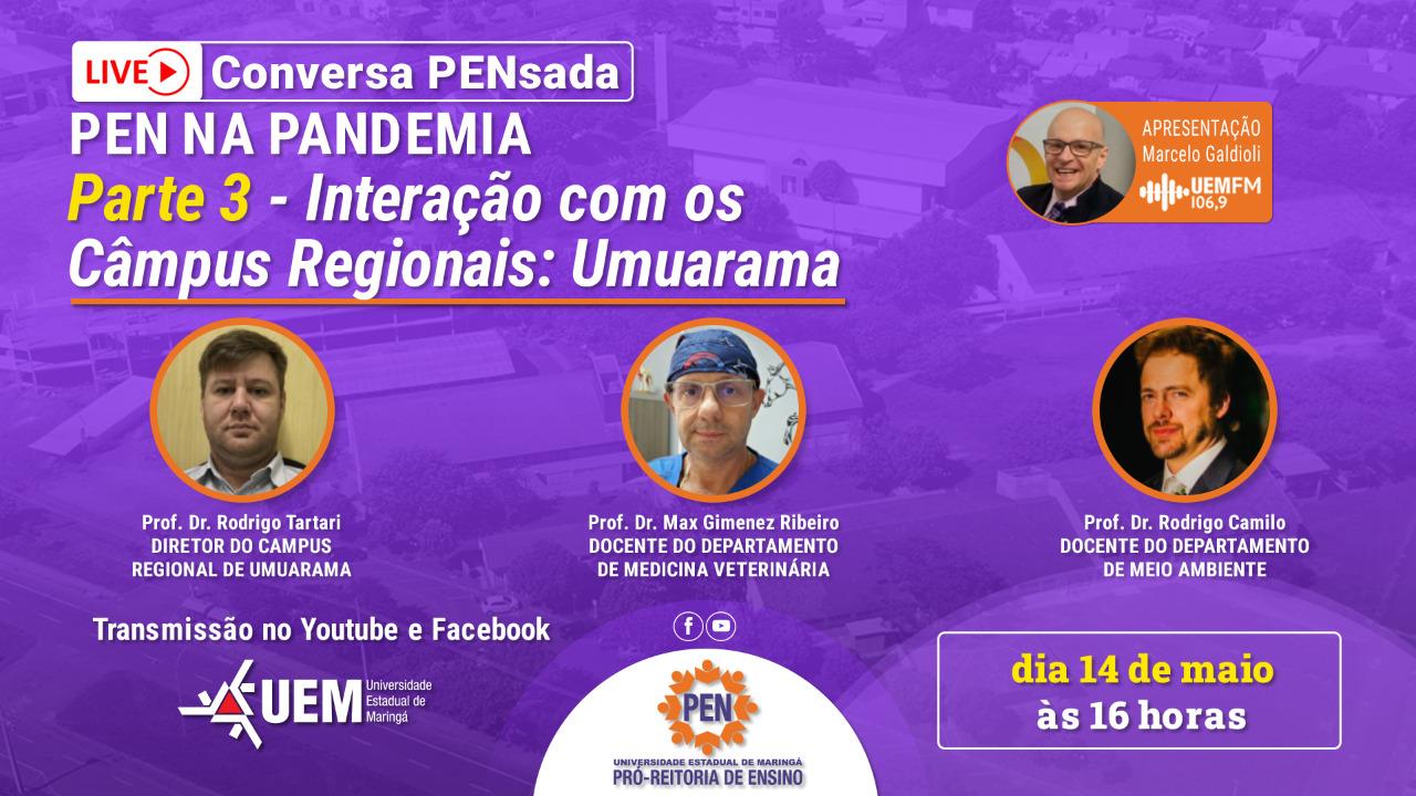 Interação com os Câmpus Regionais: Umuarama - 14/05 - 16h