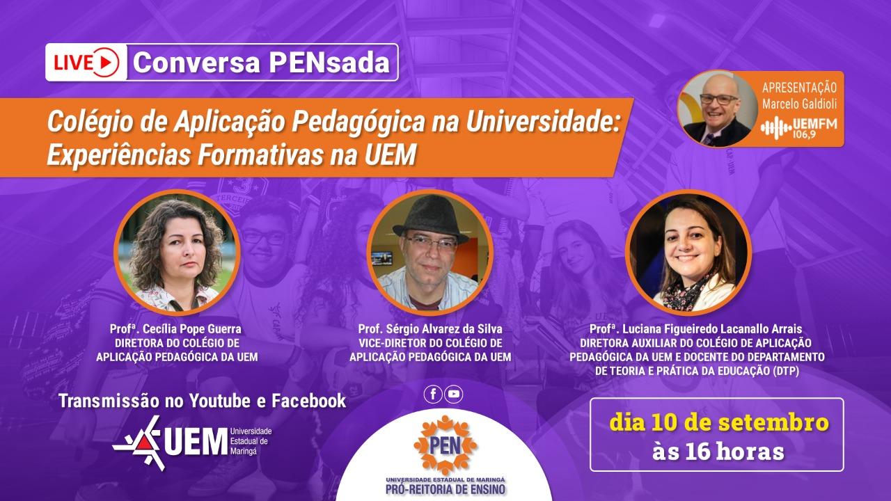 Colégio de Aplicação Pedagógica na Universidade: Experiências Formativas na UEM