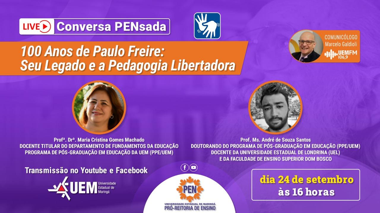 100 Anos de Paulo Freire: Seu Legado e a Pedagogia Libertadora - 24/09 - 16h